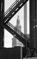 Terminal Tower with Lift Bridge, May, 1994